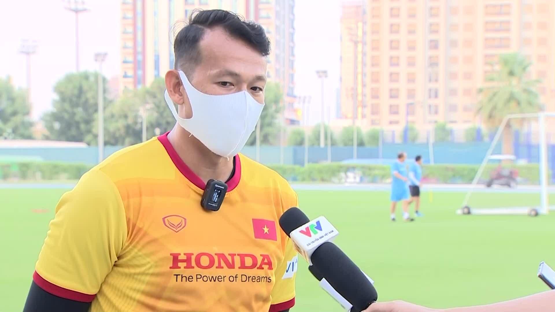 Tấn Trường tự tin hoàn thành nhiệm vụ trong ba trận đấu của tuyển Việt Nam
