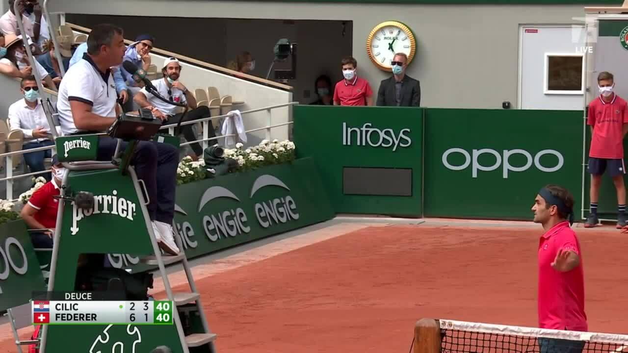 Federer: 'Saya dan wasit saling salah paham'