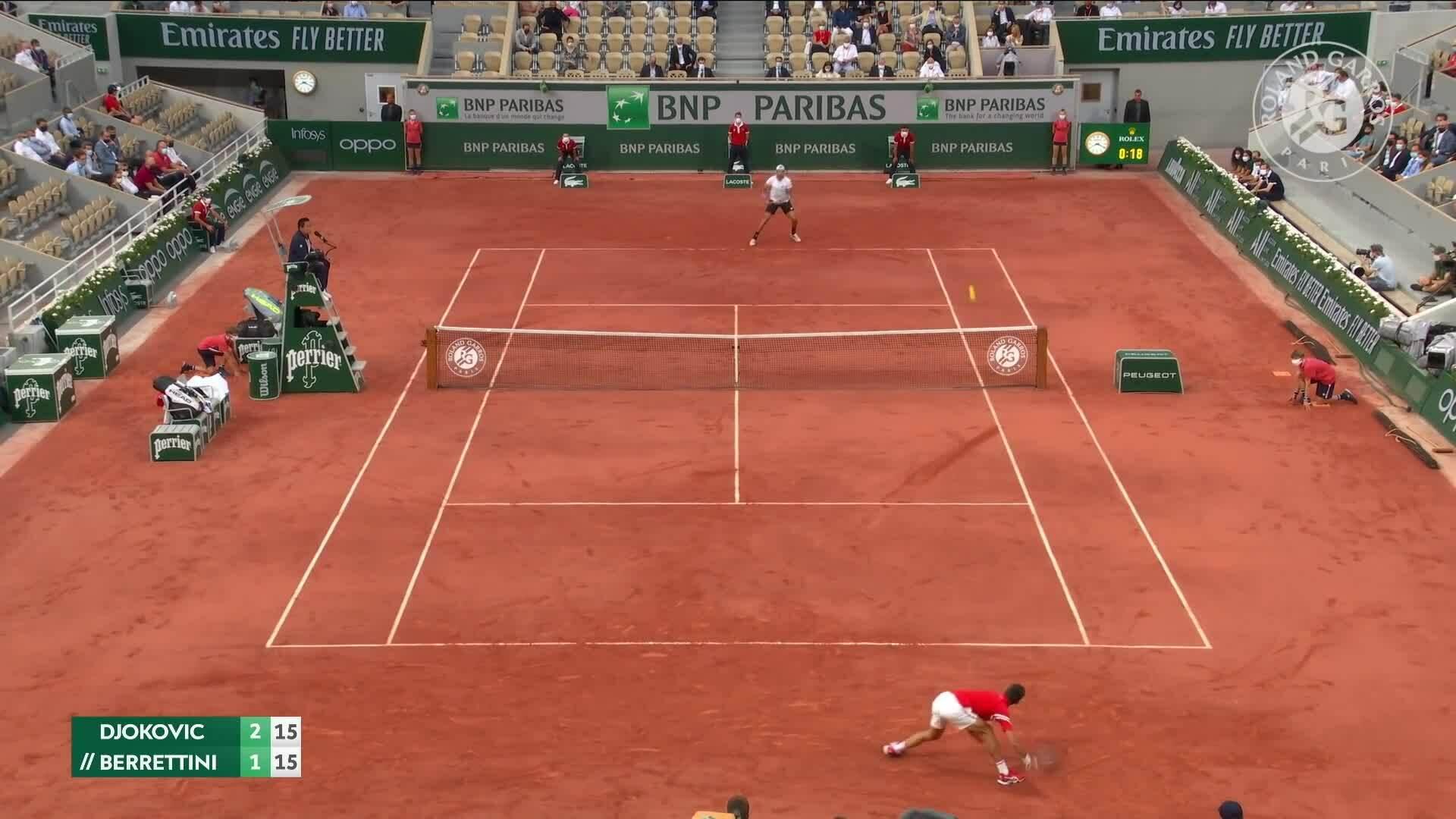 Djokovic 3-1 Berrettini