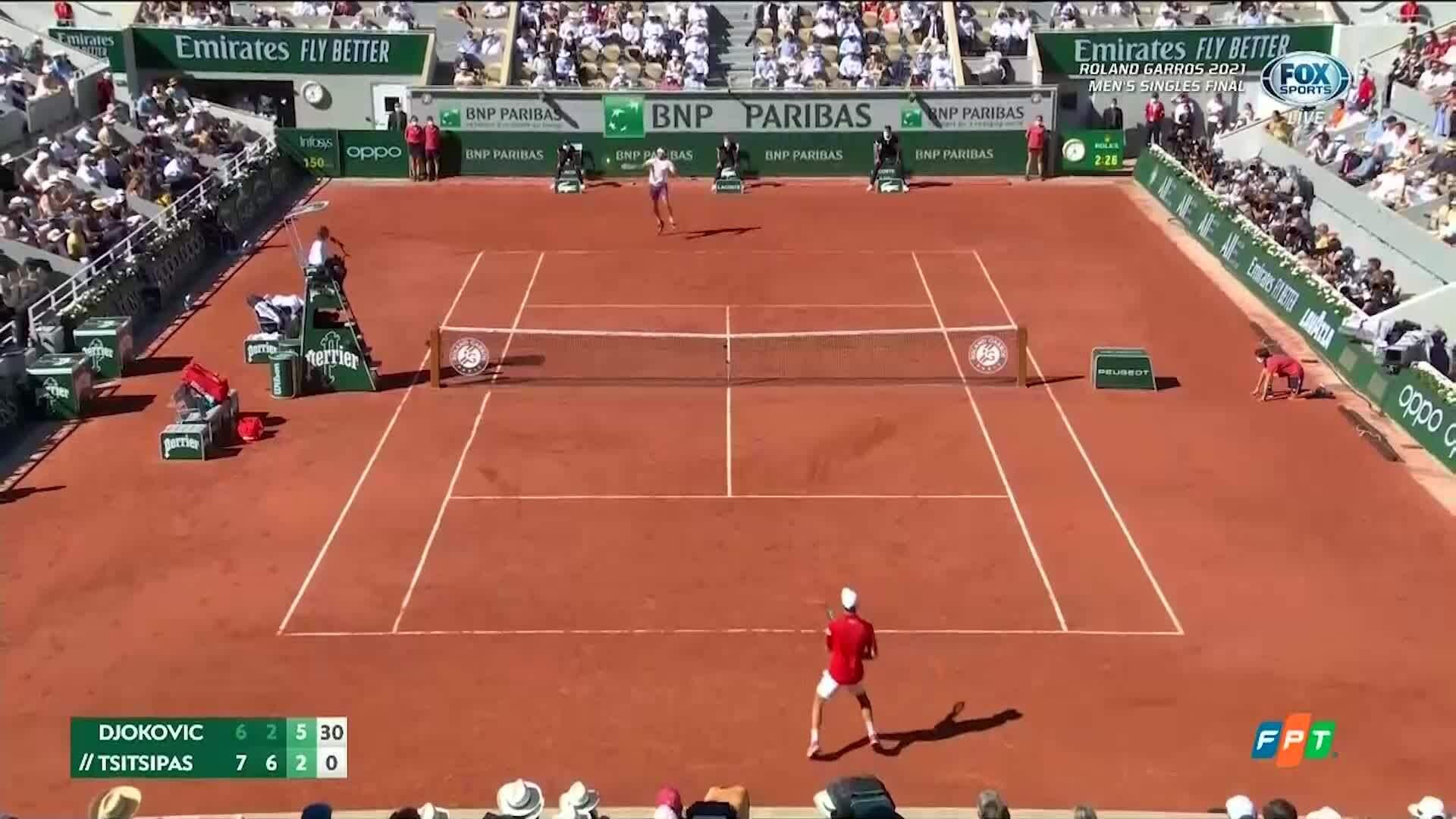 Djokovic menang 6-3 di set ketiga