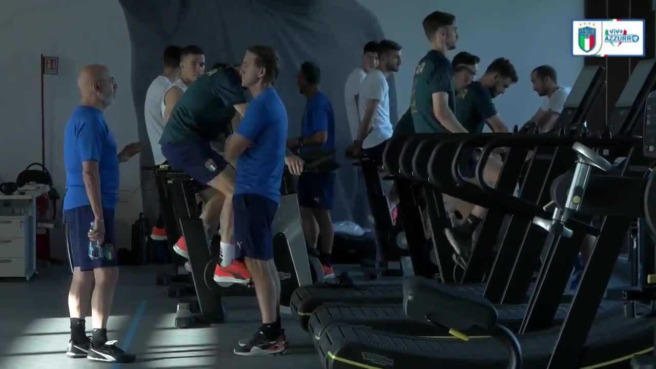 Tuyển Italy tập luyện tại Coverciano chuẩn bị cho trận chung kết Euro