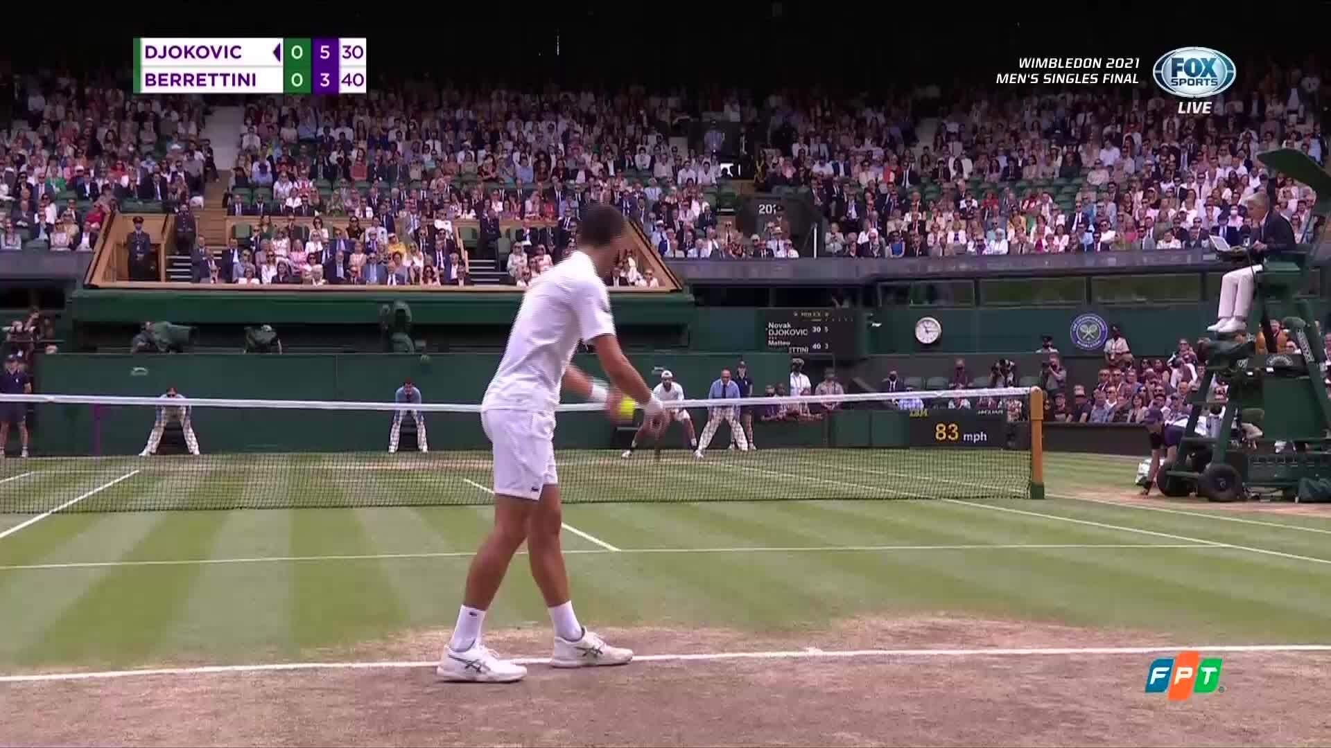 Djokovic memimpin 6-5 set satu