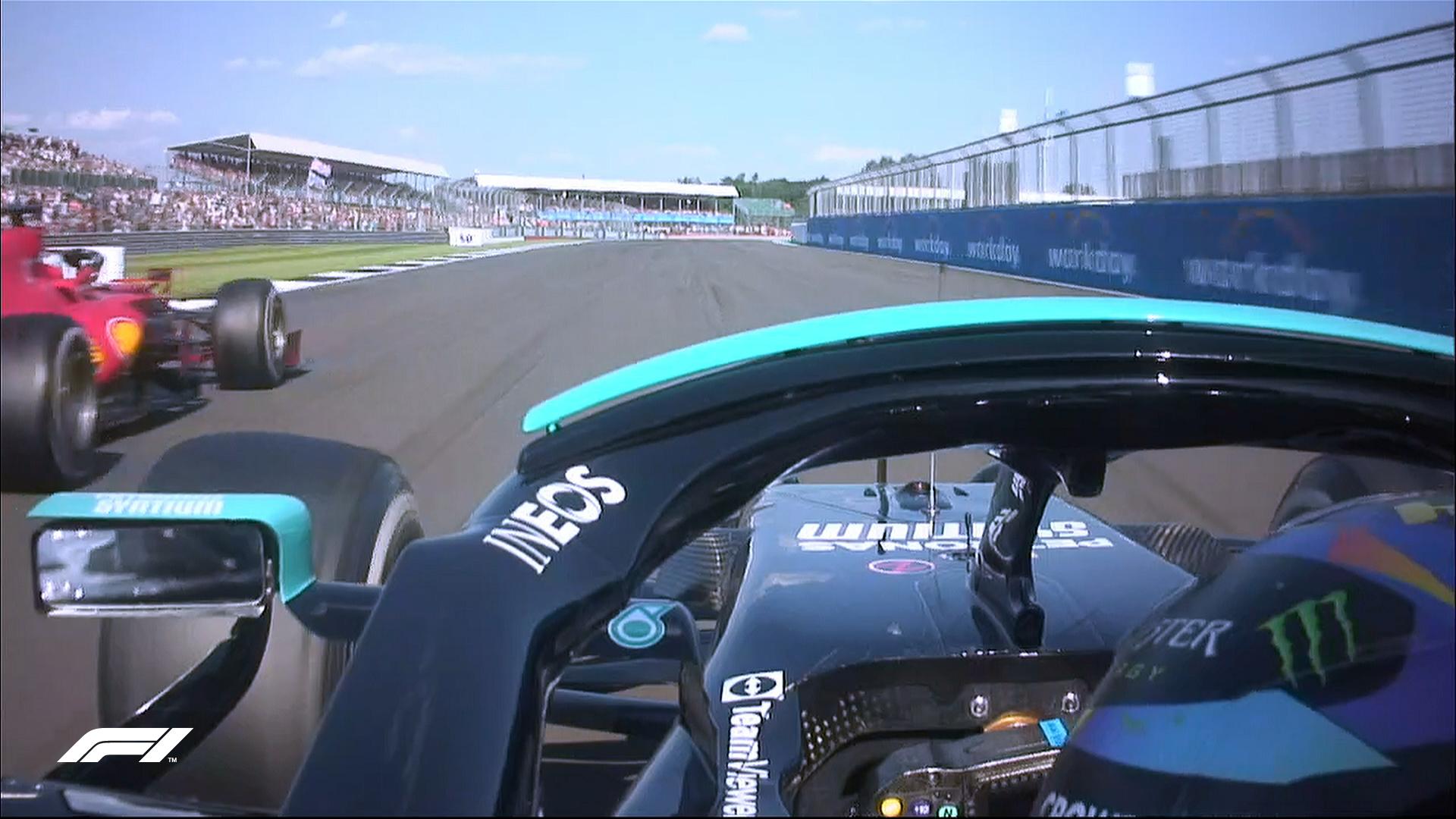 Hamilton menyalip Leclerc untuk memenangkan Grand Prix Inggris