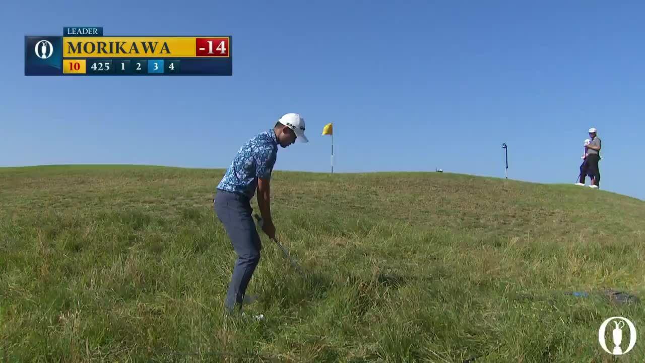 Morikawa memegang par jarak jauh di lubang 10