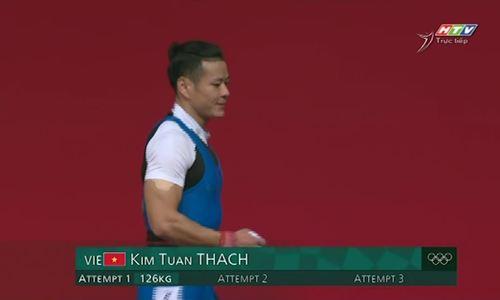 Thạch Kim Tuấn thất bại ở mức tạ 130 kg