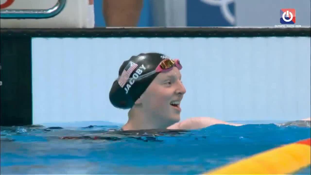Teenage swimmer wins shocking gold