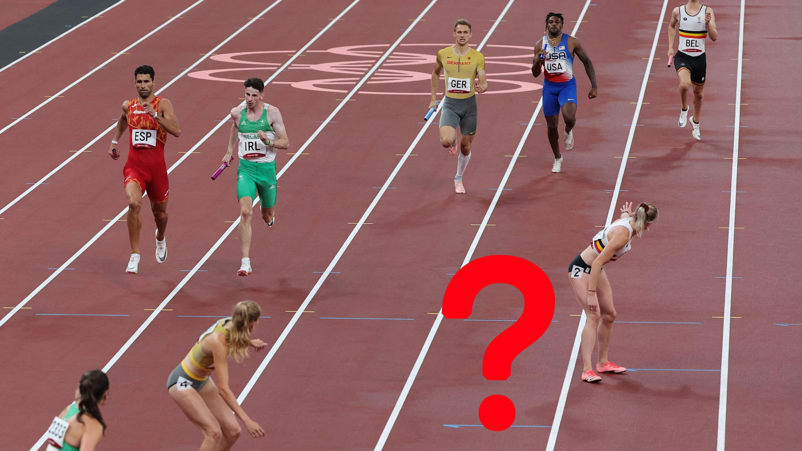 Momen membingungkan dalam estafet gaya ganti 4x400m