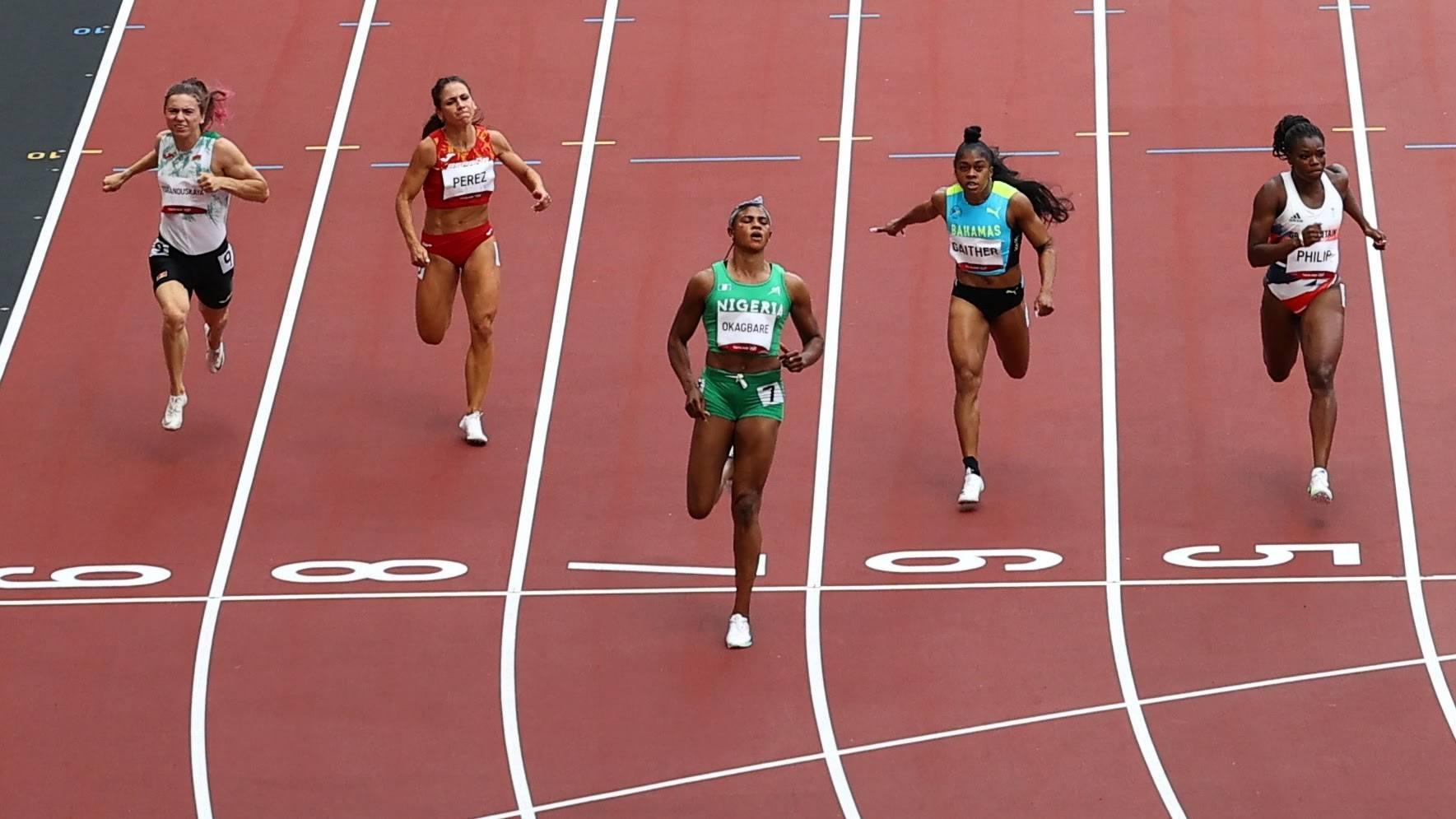 Okagbare về nhất ở Heat 1 vòng loại 100m nữ Tokyo 2020