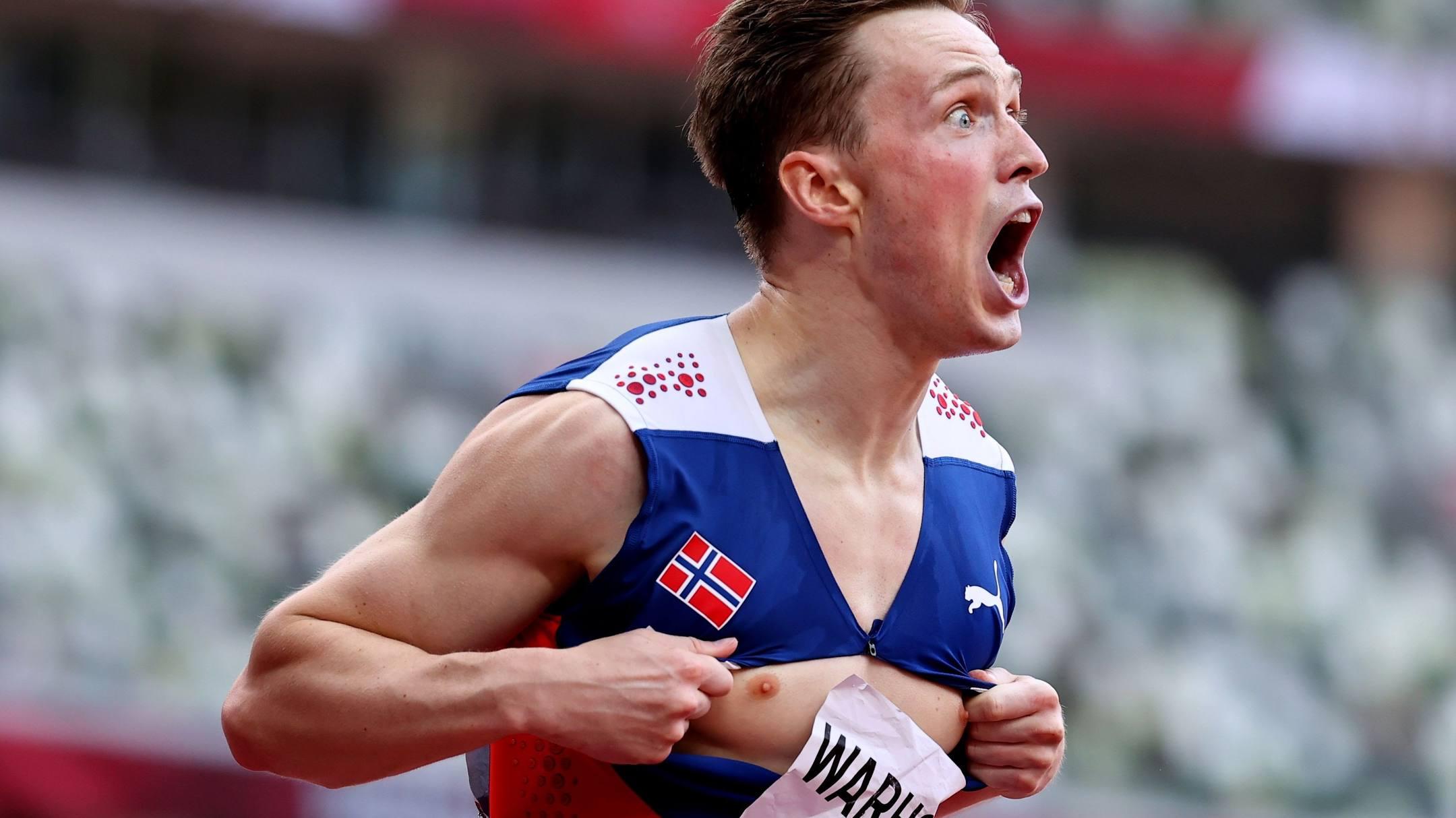 Norwegian athlete breaks 400m hurdles world record