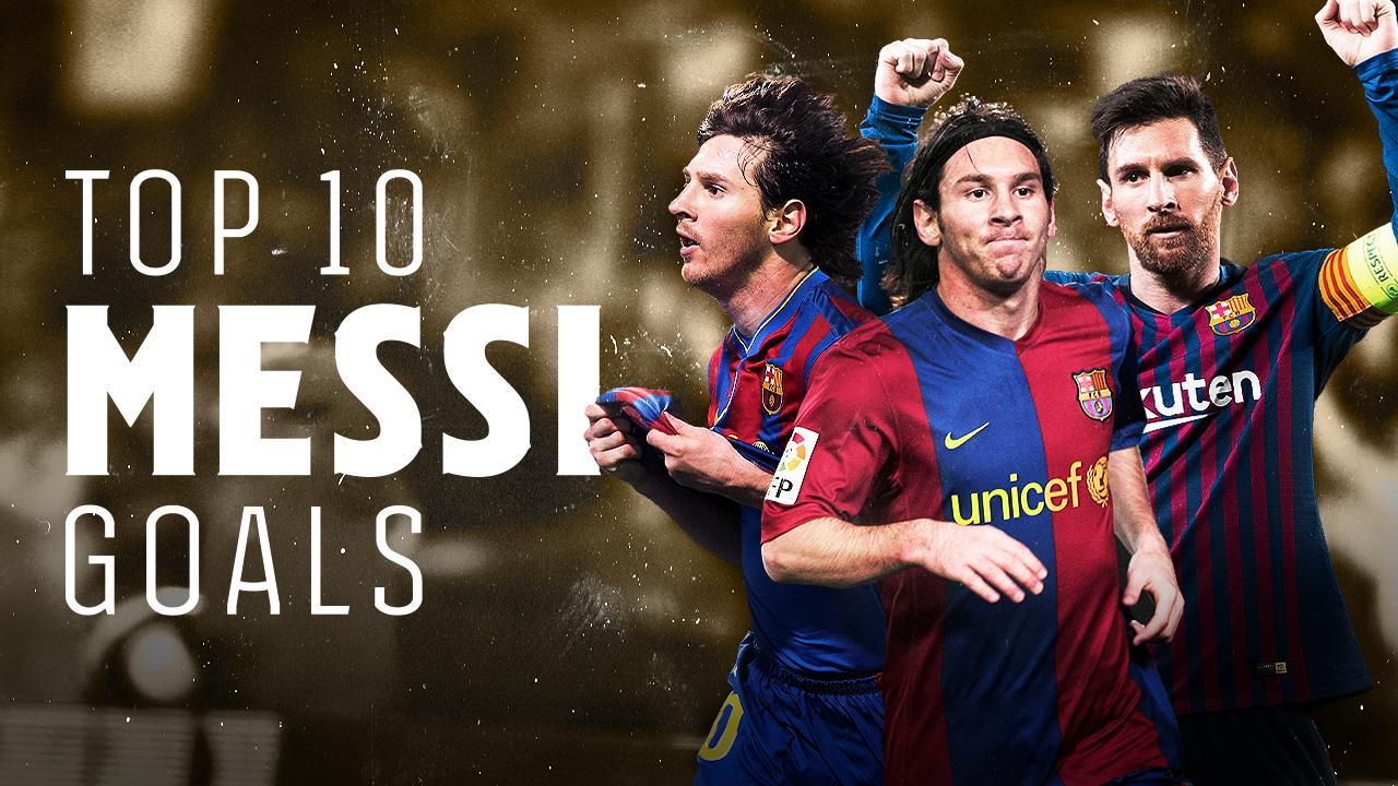 10 bàn thắng đẹp của Messi trong màu áo Barca