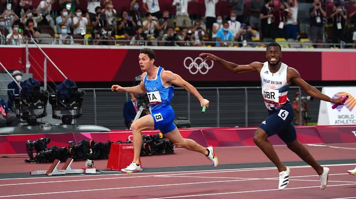 Italia vô địch nội dung chạy tiếp sức 4x100m
