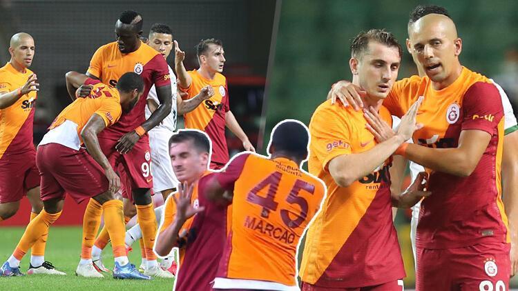 Cầu thủ Galatasaray húc đầu đấm nhau trong trận đấu