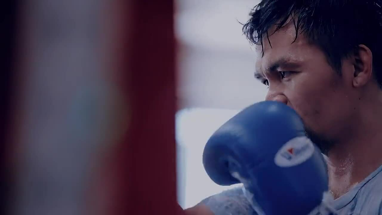 Pacquiao and Ugas practice
