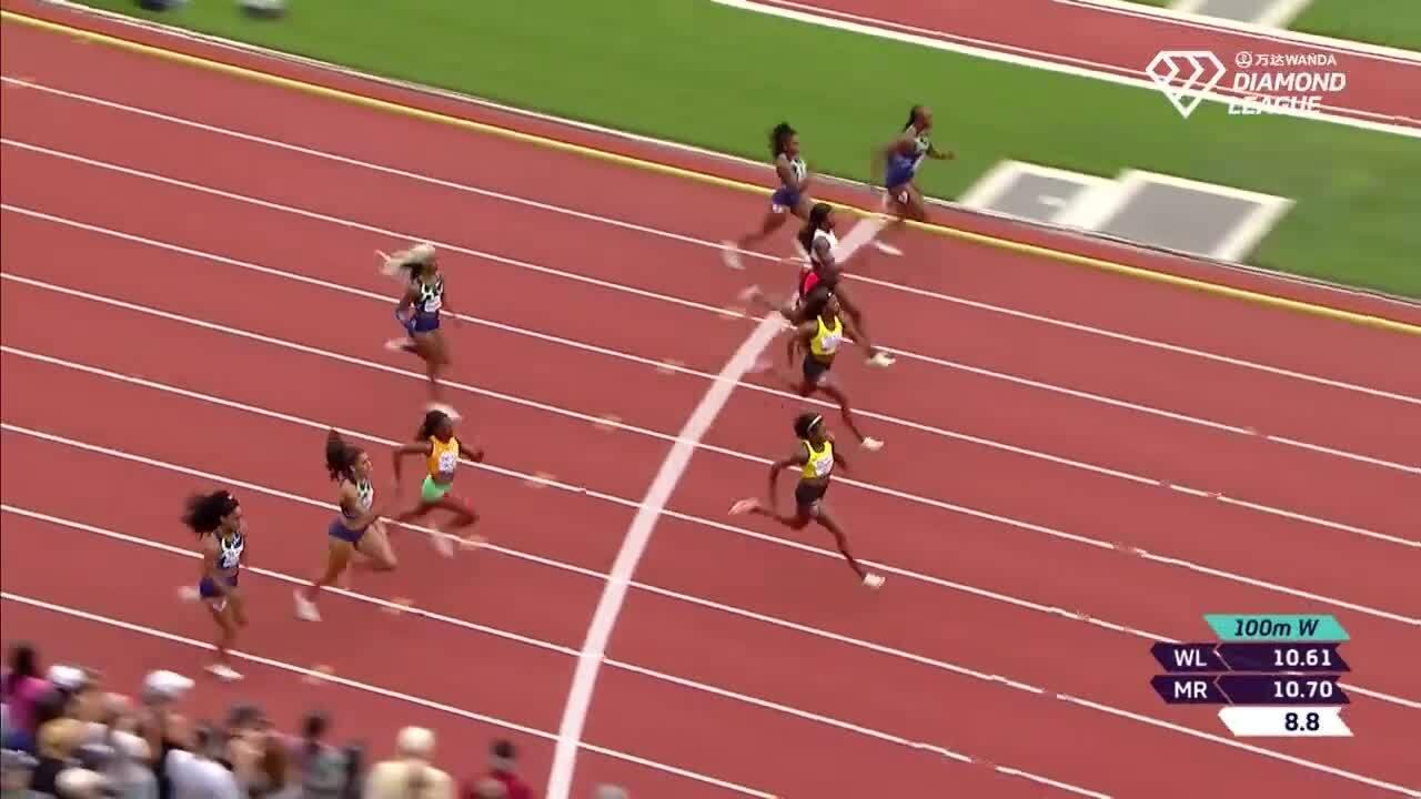 Elaine Thompson-Herah runs 100m in 10.54 seconds