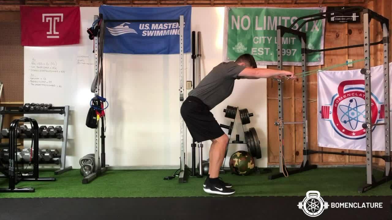 Hinge elbow pull + band