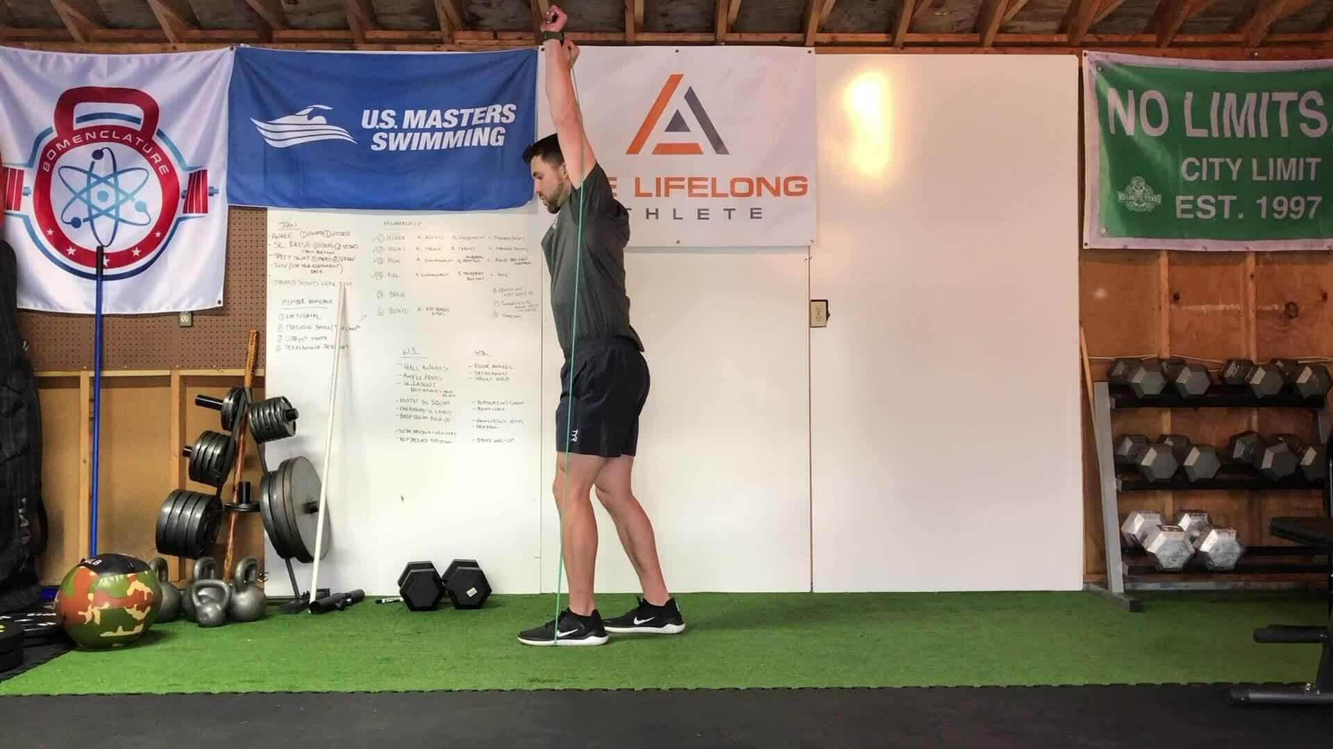 Overhead reverse lunge
