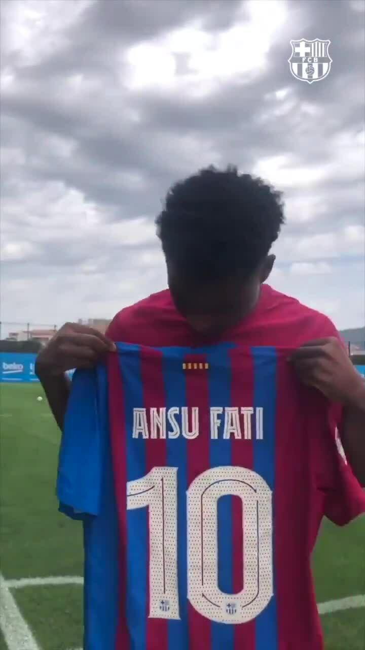 Fati ได้รับเสื้อหมายเลข 10 ที่ Barca