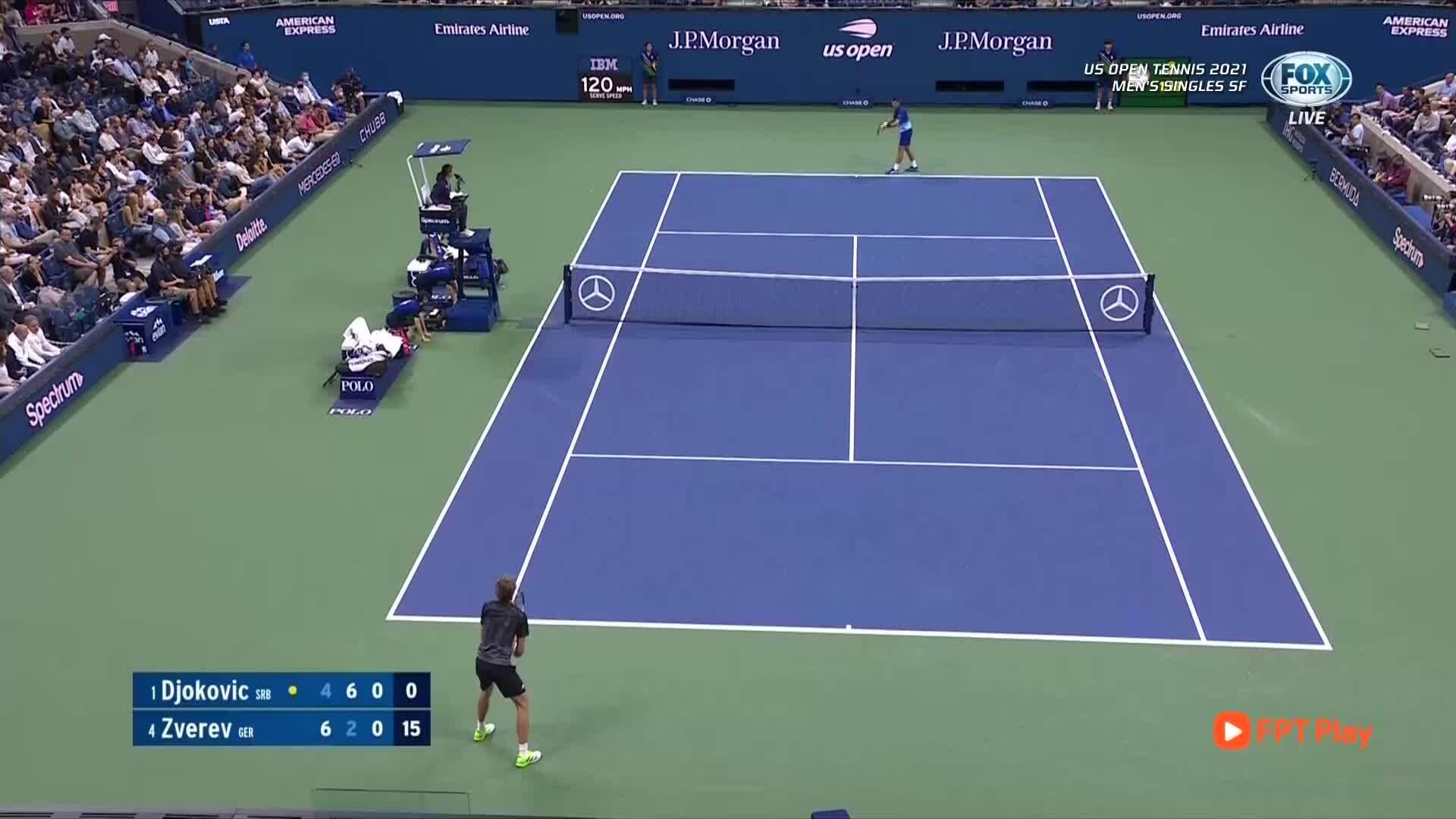 2-1 untuk Djokovic di set ketiga