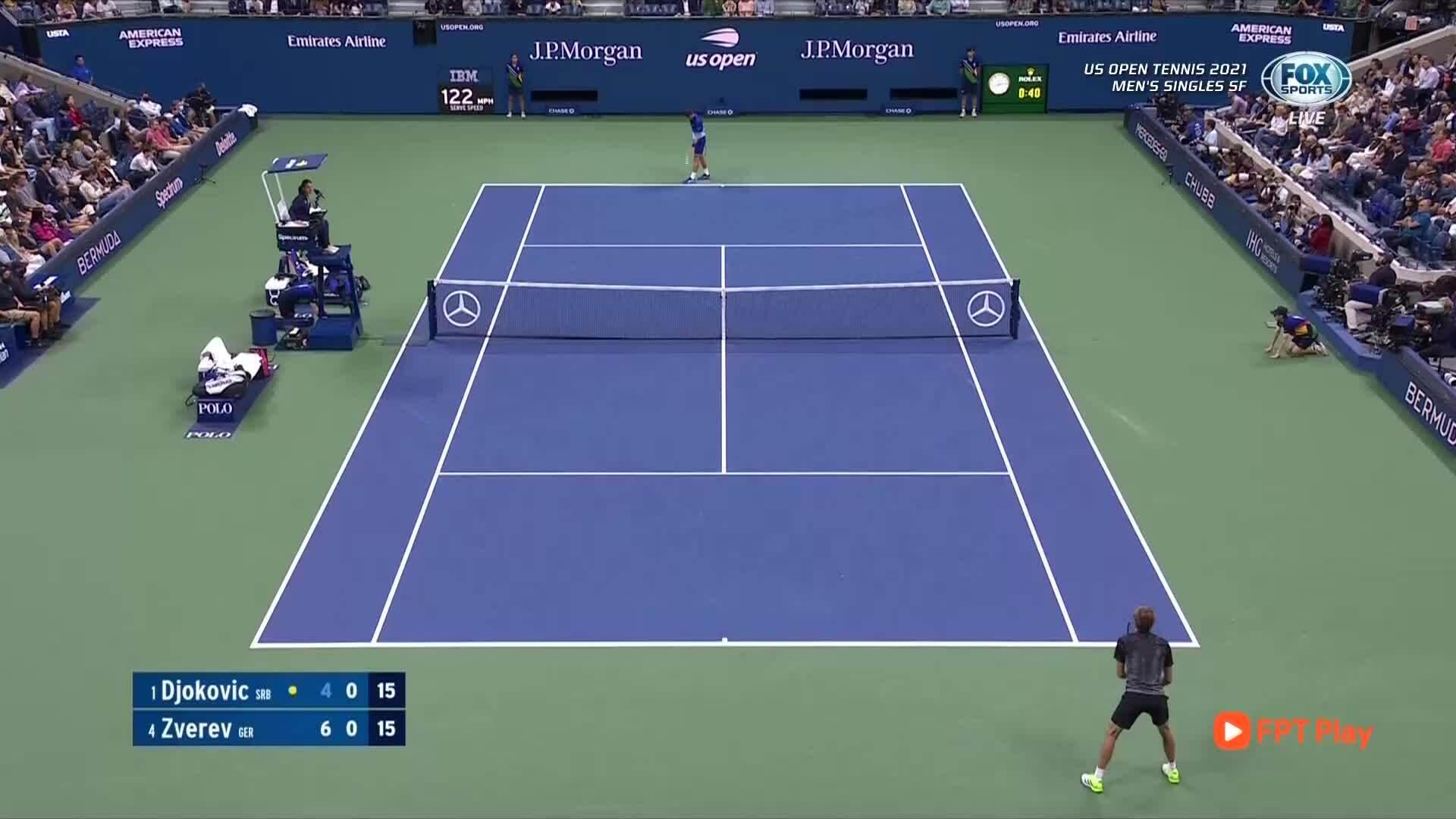 Djokovic memimpin 1-0 di set 2