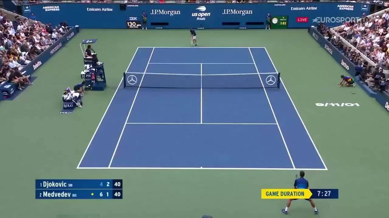 Djokovic sa sút tinh thần ở chung kết Mỹ Mở rộng