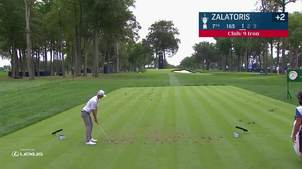 Zalatoris dùng gậy sắt số 9 ghi hole-in-one hố 7 tại vòng đầu US Open 2020