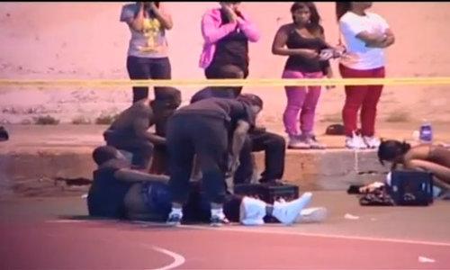 Hiện trường vụ xả súng vào 13 người ở công viên Mỹ