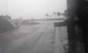 Gió rít trong bão Nari