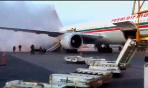 Hỏa hoạn sát máy bay, hành khách tháo chạy