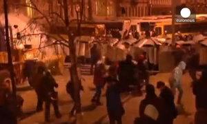 Cảnh sát Ukraine đụng độ người biểu tình