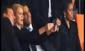 Obama 'tự sướng' ở lễ tưởng niệm Mandela