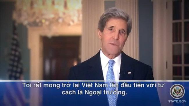 Ngoại trưởng Mỹ John Kerry chào Việt Nam