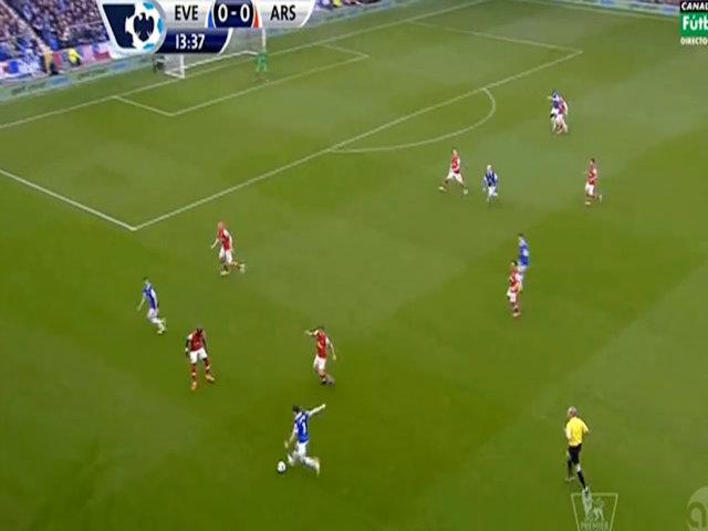 Everton 2-0 Arsenal (hiệp 1)