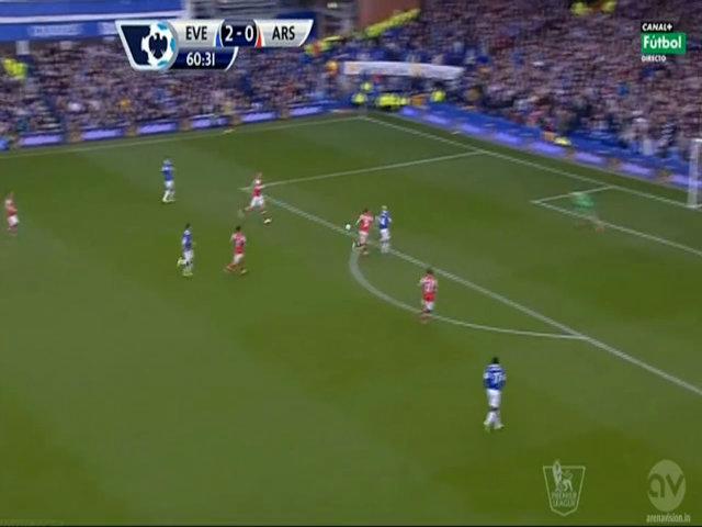 Mirallas nâng tỷ số lên 3-0 cho Everton