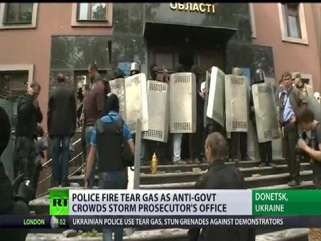 Người biểu tình chiếm văn phòng công tố ở Donetsk