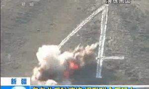 Trung Quốc diễn tập quân sự chống khủng bố tại Tân Cương