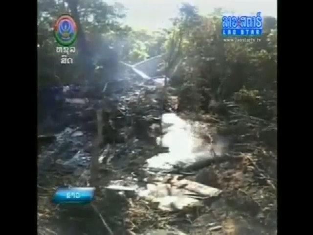 Hiện trường máy bay không quân Lào rơi