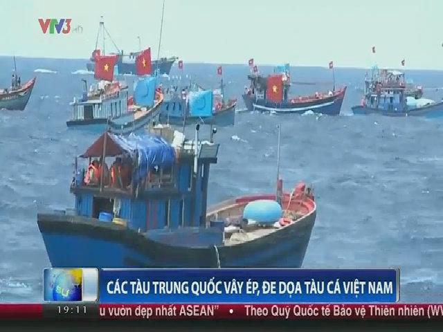 Tàu cá Trung Quốc vây ép tàu cá Việt Nam trên Biển Đông