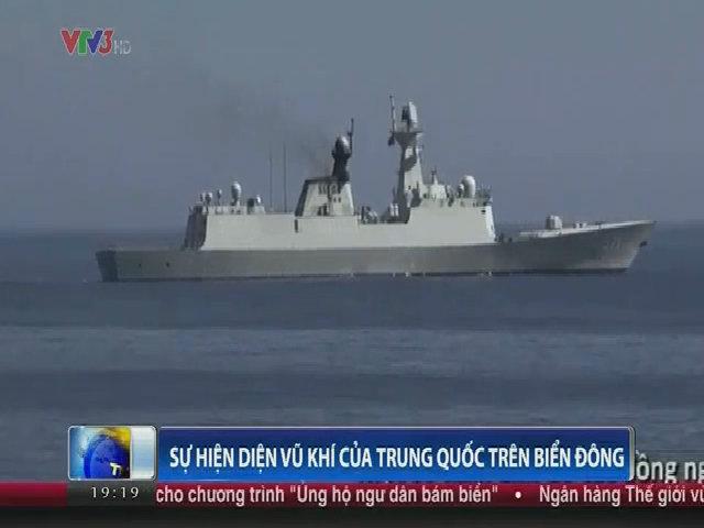 Cận cảnh những chiếc tàu quân sự của Trung Quốc trên Biển Đông