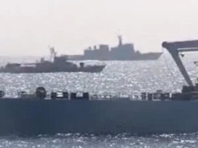 Tàu chiến và máy bay quân sự Trung Quốc tại khu vực giàn khoan