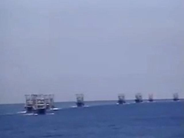 Tàu Trung Quốc dàn hàng ngang trong vùng đặc quyền kinh tế của Việt Nam