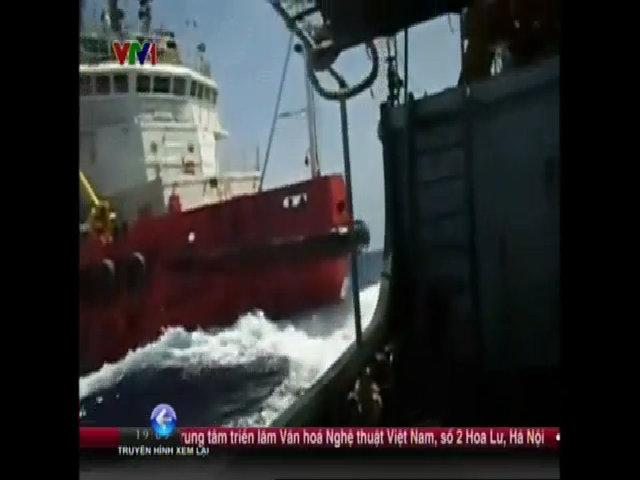 Bảy tàu Trung Quốc bao vây tàu kiểm ngư Việt Nam