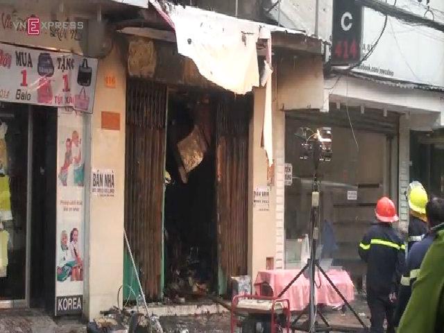Hiện trường căn nhà bốc cháy khiến 7 người tử vong
