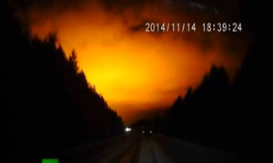 Ánh sáng bí ẩn trên bầu trời Nga