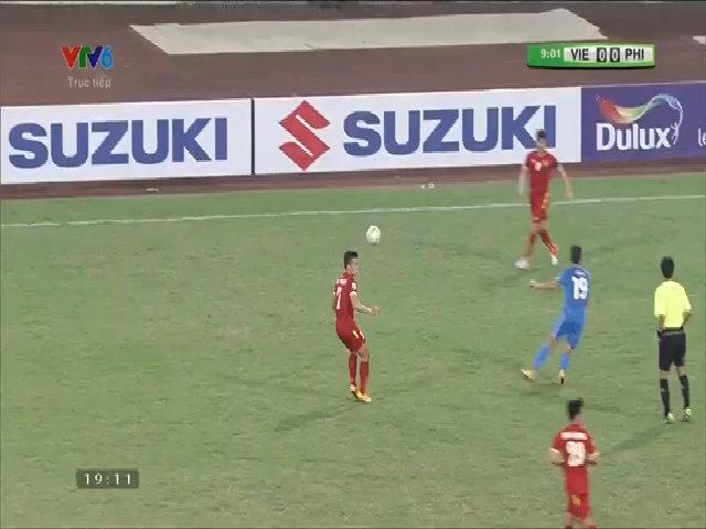Hoàng Thịnh mở tỷ số cho tuyển Việt Nam