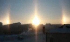 'Ba Mặt Trời' xuất hiện cùng lúc