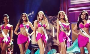Top 15 Miss Universe 2014 trình diễn bikini