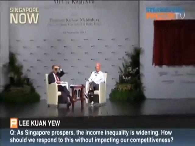 Thủ tướng Lý Quang Diệu ngắt lời khán giả đặt câu hỏi riêng tư trong hội nghị