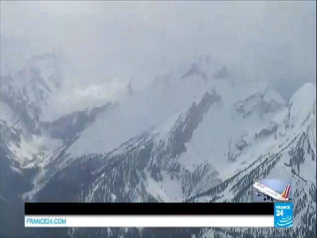 Khu vực xảy ra tai nạn máy bay Germanwings nhìn từ trên cao