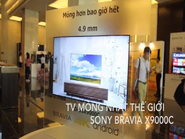 Trải nghiệm TV mỏng 4,9 mm của Sony