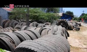 Làng sống nhờ những chiếc lốp ôtô phế thải
